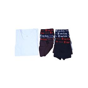 Combo Ewin EQ005: 5 Quần Lót Bikini + 5 Quần boxer + 1 Áo Lá Cho Nam