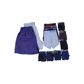 Combo Ewin EQ004: 6 Quần Lót Bikini + 4 Quần Boxer + 2 Quần Mặc Nhà Cho Nam