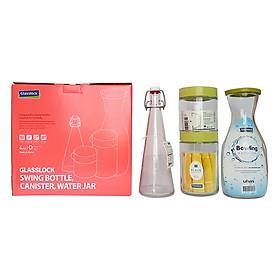 Bộ 4 Sản Phẩm Thủy Tinh Glasslock IG887 (400 + 500 + 600 + 1000 ml)