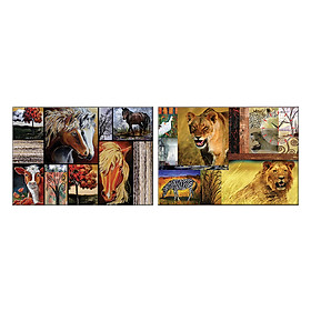 Tranh đồng hồ treo tường VẺ ĐẸP HOANG DÃ - Q6D6_50DH-06 Thế Giới Tranh Đẹp