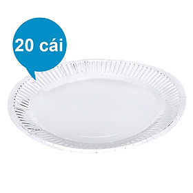 Lốc 20 Cái Dĩa Giấy MPET FnB DB23 (23cm / Dĩa)