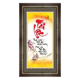 Tranh Khung Thư Pháp TÀI LỘC PHÚ QUÝ TPT_40-1 (40 x 70 cm) Thế Giới Tranh Đẹp