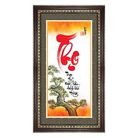 Tranh Khung Thư Pháp THỌ TỶ NAM SƠN TPT_40-12 (40 x 70 cm) Thế Giới Tranh Đẹp