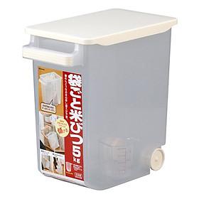 Thùng Gạo Có Bánh Xe Kèm Ca Đo Lường Inomata (5kg)