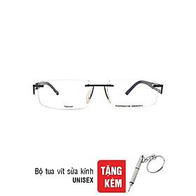 Gọng Kính Unisex Porsche Design P 8704 S1 C (52/18/135) - Đen + Tặng Bộ Tua Vít Sửa Kính
