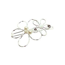 Kẹp Tóc Hoa Và Ngọc Osewaya HA1000-8314 - Bạc
