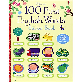 Usborne 100 First English Words Sticker book