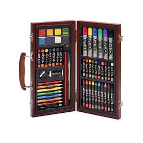 Bộ Màu Vẽ Đa Năng Hộp Gỗ Cao Cấp Colormate MS-55W