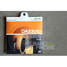 Bộ Dây Guitar D'addario Acoustic EJ-10