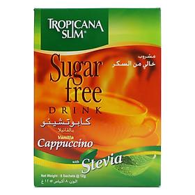 Cà Phê Ăn Kiêng Cappuccino Với Chiết Xuất Cỏ Ngọt Tropicana Slim (8 Gói x 12g)