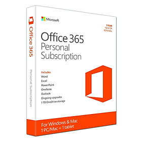 Phần Mềm Microsoft Office 365 Personal English APAC - 1 Năm