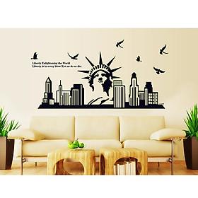 Decal Dán Tường Thành phố New York Dạ Quang Binbin PK94 (65 x 130 cm)