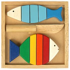 Đồ Chơi Gỗ Winwintoys - Bộ Cắt 2 Cá 63032