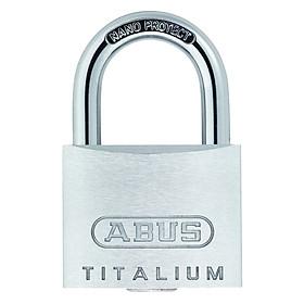 Ổ Khóa Titalium Abus 64Ti/50 (50mm) - Trắng bạc