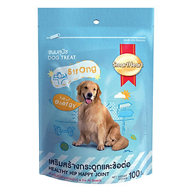 Đồ Ăn Chó Bánh Xương Khoáng Chất Giúp Xương Hông Khỏe Mạnh và Năng Động SmartHeart (100g)