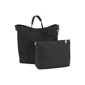 Hình đại diện sản phẩm Combo Shirley FB415-20: Túi Xách Nữ Mini Satche (30 x 20 cm) + Túi Nhỏ Cầm Tay (20 x 10 cm) - Đen