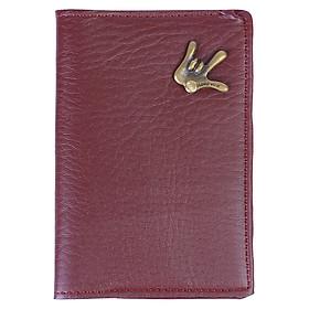 Ví Đựng Passport Unisex AMIS 893015 - Nâu Đậm