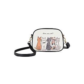 Túi Đeo Chéo Mini Họa Tiết Xinh Xắn Neo Bag Paracat-Black (20 x 15 cm) - Đen
