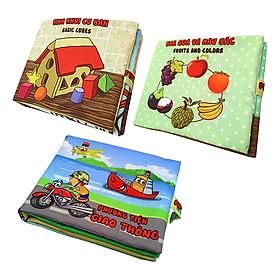 Bộ 3 Sách Vải Pipovietnam (Hoa Quả - Hình Khối - Phương Tiện Giao Thông)
