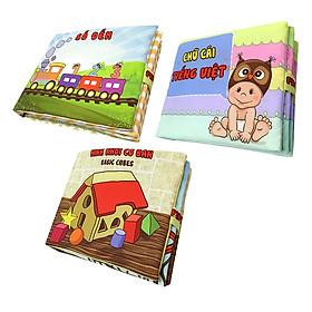 Bộ 3 Sách Vải Pipovietnam (Số Đếm - Chữ Cái Tiếng Việt - Hình Khối)