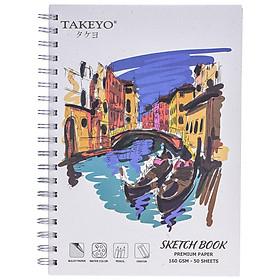 Tập Vẽ Lò Xo Takeyo B5 50 Tờ 8523 (Giao Mẫu Ngẫu Nhiên)