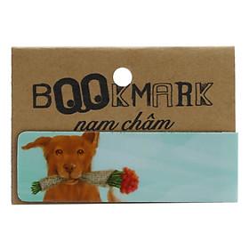 Bookmark Nam Châm Kính Vạn Hoa - Con Chó Nhỏ Mang Giỏ Hoa Hồng: Pig