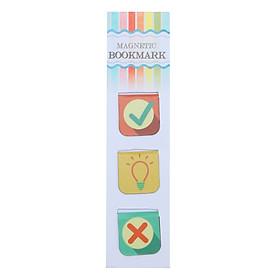 Bộ 3 Bookmark Nam Châm Kính Vạn Hoa - Ideas