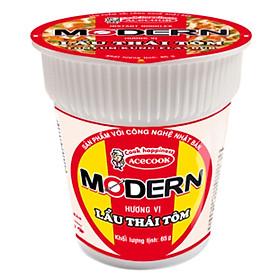 Thùng Mì Ly Modern Hương Vị Lẩu Thái Tôm (24 Ly)