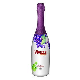 Nước Trái Cây Có Gas Vivazz Sparkling Juice Người Lớn Nho Đỏ R0106016 (720ml)