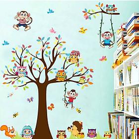 Decal Vườn Thú Sắc Màu Đáng Yêu Lala Shop DC1548 (110 x 155 cm)