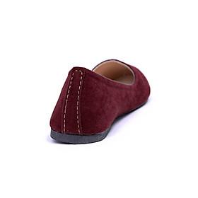 Giày Búp Bê Nhung Trơn Me Girl - 91579- Đỏ Bọc Đô