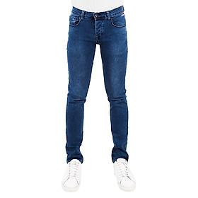 Quần Jeans Nam Skinny Trơn A91 JEANS MSKBS193ME - Xanh Denim