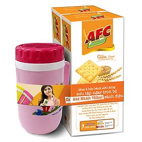 Combo 2 hộp Bánh Kinh Đô AFC Dinh Dưỡng Vị Lúa Mì Hộp 200g - Tặng Kèm 1 Ca Giữ Nhiệt 500ml