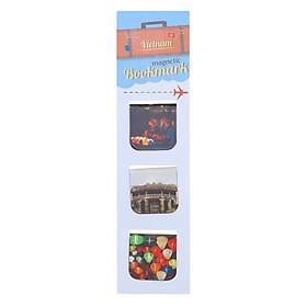 Bộ 3 Bookmark Nam Châm Kính Vạn Hoa - Hội An 3 (Màu)