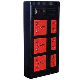Ổ Cắm 6 Lỗ Dây 2 Mét Điện Quang ĐQ ESK 2BR 6ECO - Đen Đỏ