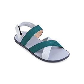 Hình đại diện sản phẩm Giày Sandal Nam Quai Chéo Evest A249 - Xanh Lá Phối Trắng