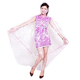 Áo Mưa Cánh Dơi 1 Đầu Nhựa Trong Việt Linh AMVL10
