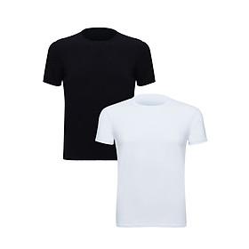 Combo 2 Áo T-Shirt Nam Cổ Tròn IMVMAN TCON1-4 (Trắng + Đen)