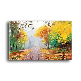 Tranh Canvas Vicdecor TCV0021 Con Đường Lá Vàng