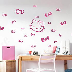 Decal Dán Tường NineWall Hello Kitty BA043