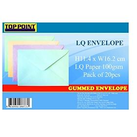 Hình đại diện sản phẩm Bao Thư Màu Giấy Thơm Toppoint 11.4 x 16.2cm - Lục (20 Cái/Lốc)