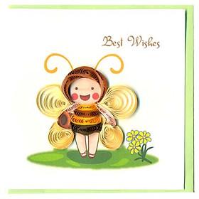 Thiệp Best Wishes Việt Net - Bé Ong Nhỏ (10 x 10 cm)