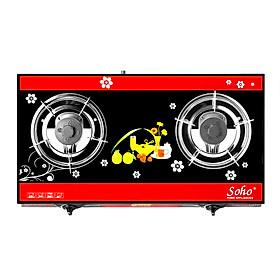 Bếp Gas Soho 7SLIMGL - Đỏ Đen - Hàng chính hãng