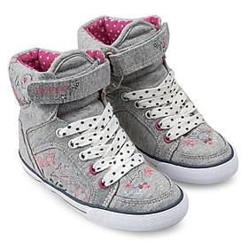 Giày Sneaker Cổ Cao Bé Gái D&A BG1306 – Màu Ghi