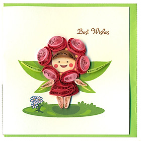 Thiệp Best Wishes Việt Net - Bông Hoa Nhỏ (10 x 10 cm)