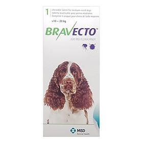 Thuốc Hỗ trợ Điều Trị Rận Tai Ve Ghẻ Bọ Chét Chấy Chó MSD Bravecto1020 (10 - 20 kg)