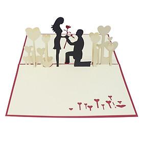 Thiệp Nổi 3D Ninrio - Couple Love - BT065