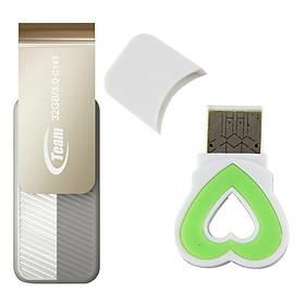 Bộ 1 Đầu Đọc Thẻ Nhớ Và 1 USB 3.0 Team Group INC C143 32GB - Hàng Chính Hãng