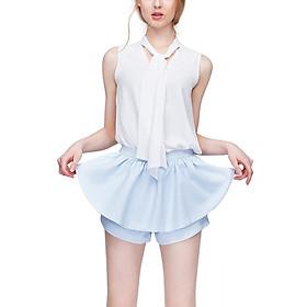 Quần Giả Váy Ruffle Can De Blanc S16S004 - Xanh Ngọc