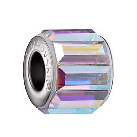 Charm Bánh Xe Crystals From Swarovski Vòng Xoay Bất Tận CBX 02 - Màu Trắng